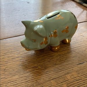 Lucky Green Pig with Hold Accents